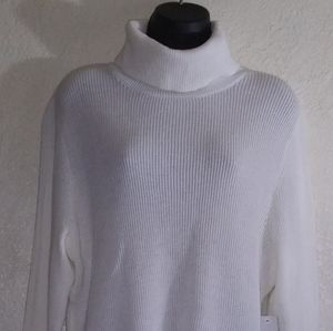 Drift & Barrow, White turtleneck sweater, XL